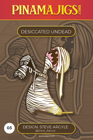 "Desiccated Undead 1.5"" Pin (Steve Argyle) Alpha"