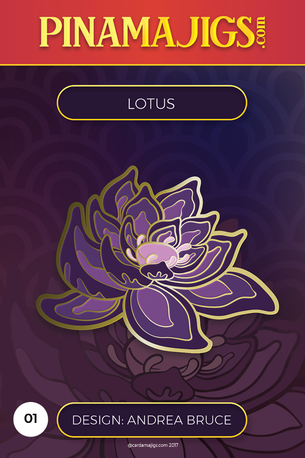 "Lotus 1.5"" Pin (ABR) Beta"