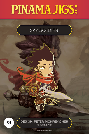 "Sky Soldier 1.5"" Pin (Peter Mohrbacher) Alpha"