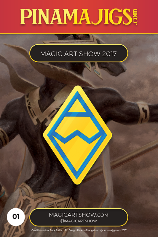 "Magic Art Show Logo 1.5"" Pin (MAS) Alpha Pin Magic Art Show - Cardamajigs"