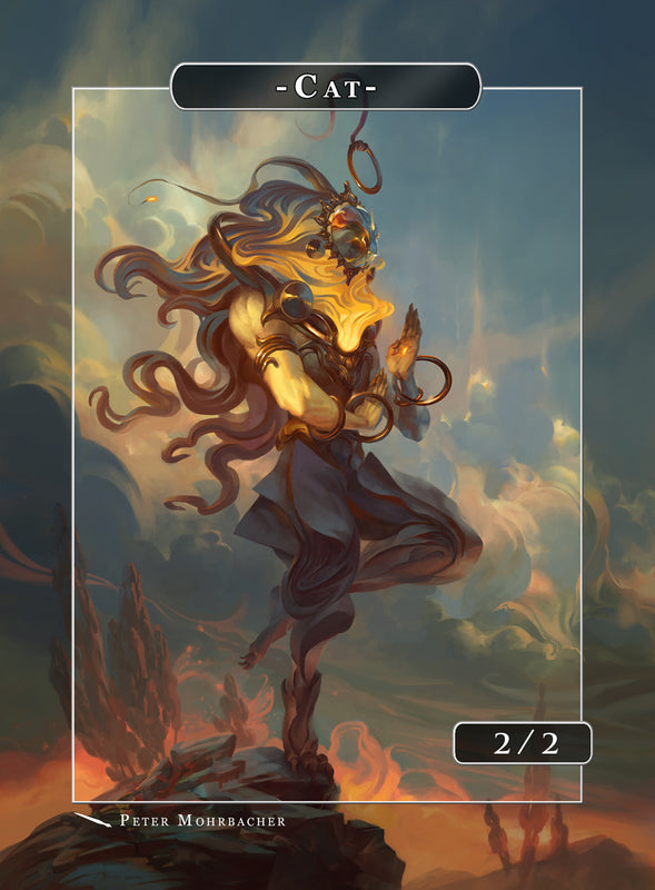 Cat Leo Token for MTG (Peter Mohrbacher) Token Angelarium 2 - Cardamajigs