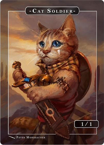 Cat Soldier Token for MTG (PMO) Token Angelarium 2 - Cardamajigs