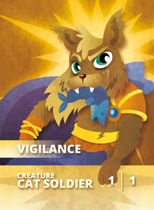 Cat Soldier Token for MTG (CMJ)