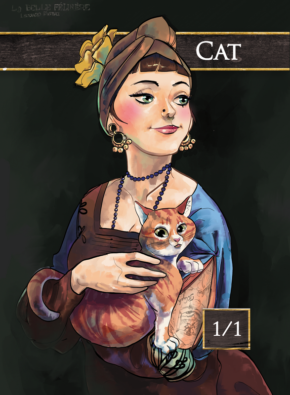Cat for MTG (Mountain Go) Token Mountain Go! - Cardamajigs
