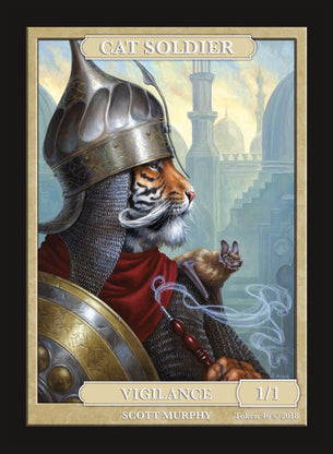 Limited Edition Cat Soldier 1/1 Token for MTG (by Scott Murphy)