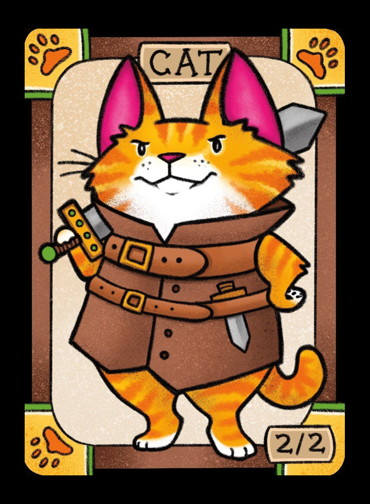 Cat Soldier for MTG (LAN) Token Leah Andersen - Cardamajigs