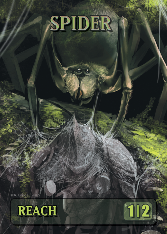 Spider Token for MTG (ISH) Token A.Lundell - Cardamajigs