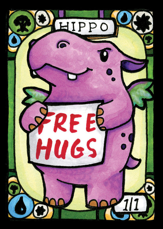 picture about Printable Mtg Tokens identified as Hippo Adorable for MTG (LAN)