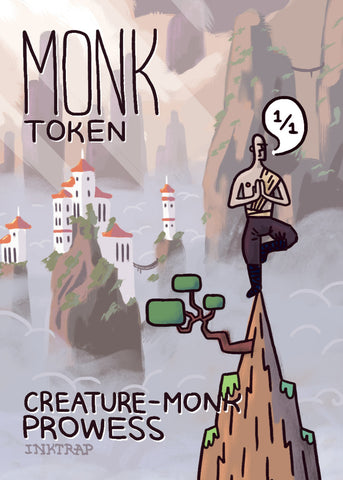 Monk Token for MTG (MIX)