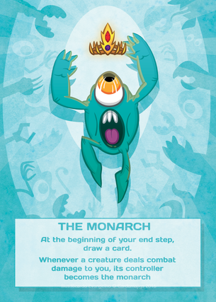 4x Monarch Tokens for MTG (CMJ)
