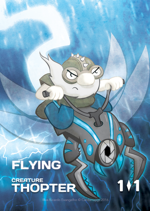Thopter Rider Token for MTG (CMJ)