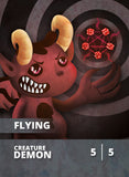 Demon Token for MTG (CMJ) Token Cardamajigs - Cardamajigs