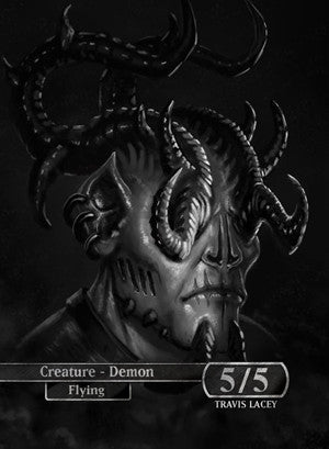 Demon Token for MTG (RES) Token Ravens Eye Studios - Cardamajigs