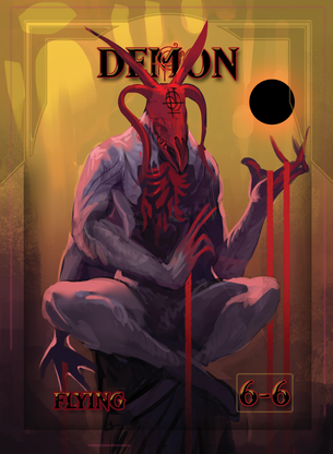 Demons Token for MTG (ISH)
