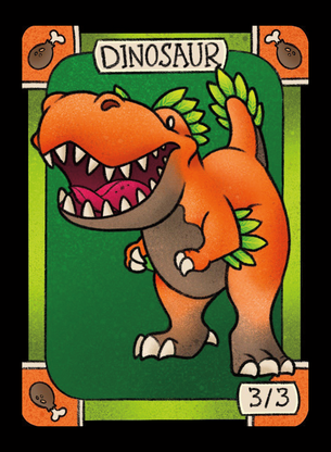 4x Dinosaur Tokens for MTG (LAN)