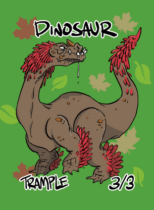 4x Dinosaur 2 Tokens for MTG (ROS)