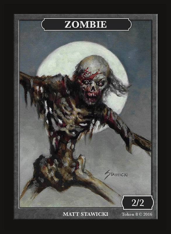 Limited Edition Zombie Token for MTG (by Matt Stawicki) Token Givememana - Cardamajigs
