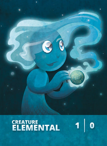 Elemental (Master of Waves) Token for MTG (CMJ)