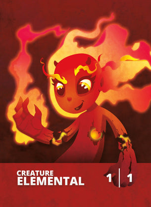 Elemental (Young Pyromancer) Token for MTG (CMJ)