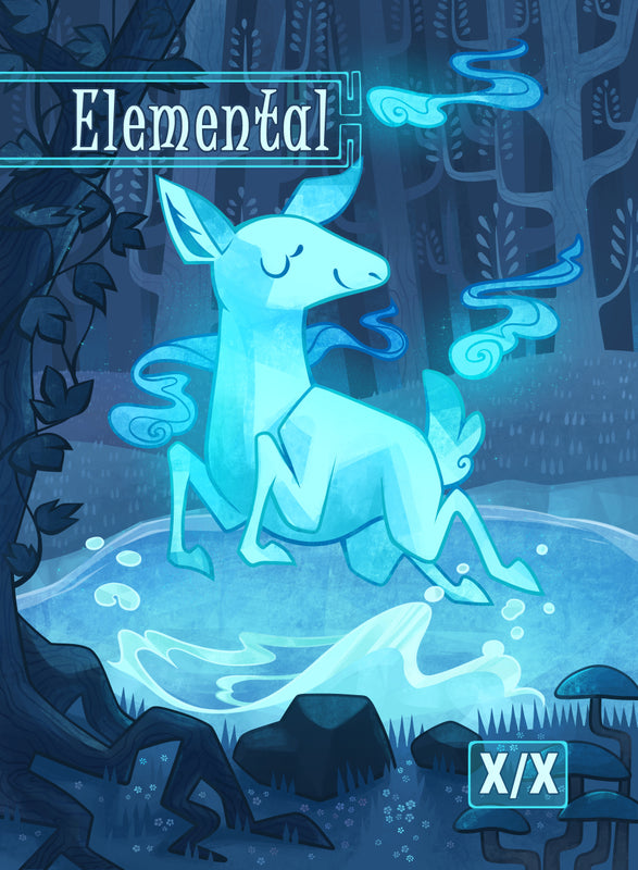 Elemental Token for MTG (COL) Token Colordrilos - Cardamajigs