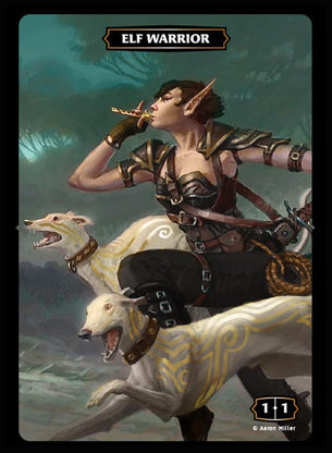 Elf Warrior (Pack Runner) Token (Aaron Miller)