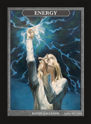 Limited Edition Energy Token for MTG (by Randy Gallegos)