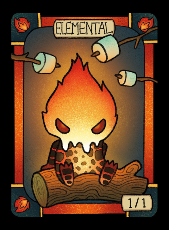 Elemental (Fire) for MTG (LAN) Token Leah Andersen - Cardamajigs
