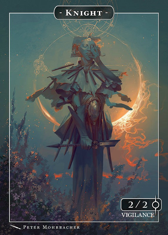 Knight Samshiel Token for MTG (Peter Mohrbacher) Token Angelarium 2 - Cardamajigs