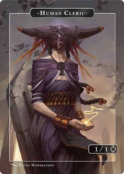 Human Cleric Token for MTG (PMO) Token Angelarium 2 - Cardamajigs