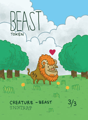 Beast Token for MTG (MIX) Token Inktrap - Cardamajigs