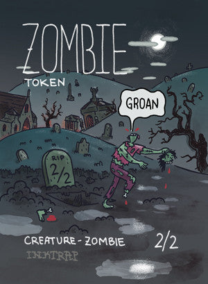 Zombie Token for MTG (MIX) Token Inktrap - Cardamajigs
