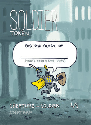Soldier Token for MTG (MIX) Token Inktrap - Cardamajigs