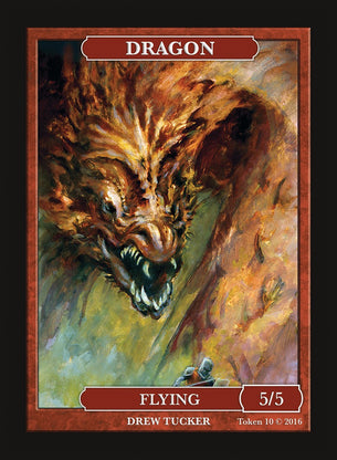 Limited Edition Dragon Token for MTG (by Drew Tucker)