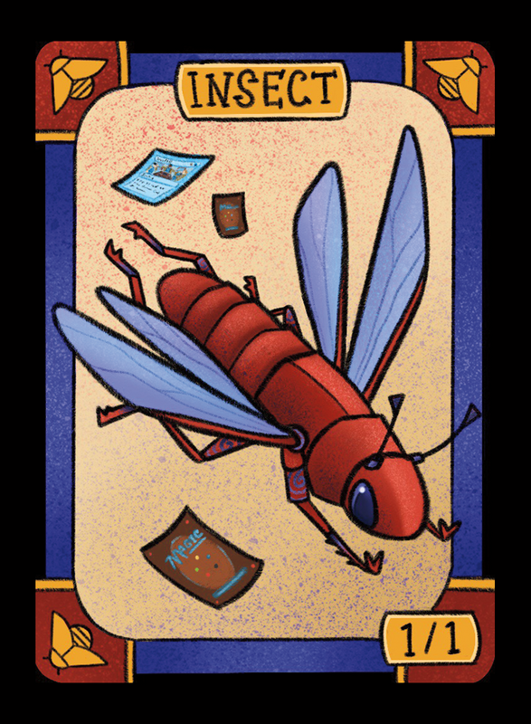 Insect (Locust) for MTG (LAN) Token Leah Andersen - Cardamajigs