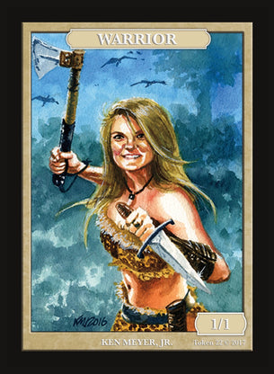 Limited Edition Warrior Token for MTG (by Ken Meyer, Jr.)