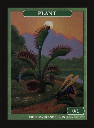 Limited Edition Plant Token for MTG (by Eric Anderson)
