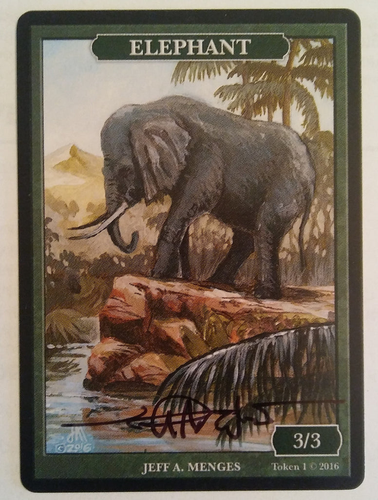 Limited Edition Elephant Token for MTG (by Jeff A. Menges) Signed by Artist