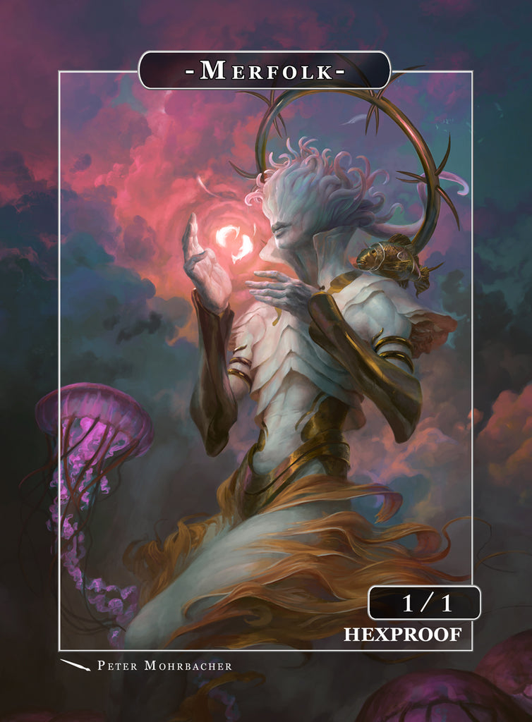 Merfolk Pisces Token for MTG (Peter Mohrbacher) Token Angelarium 2 - Cardamajigs