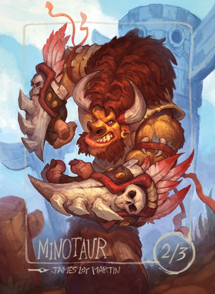 4x Minotaur Tokens for MTG (James Loy Martin)