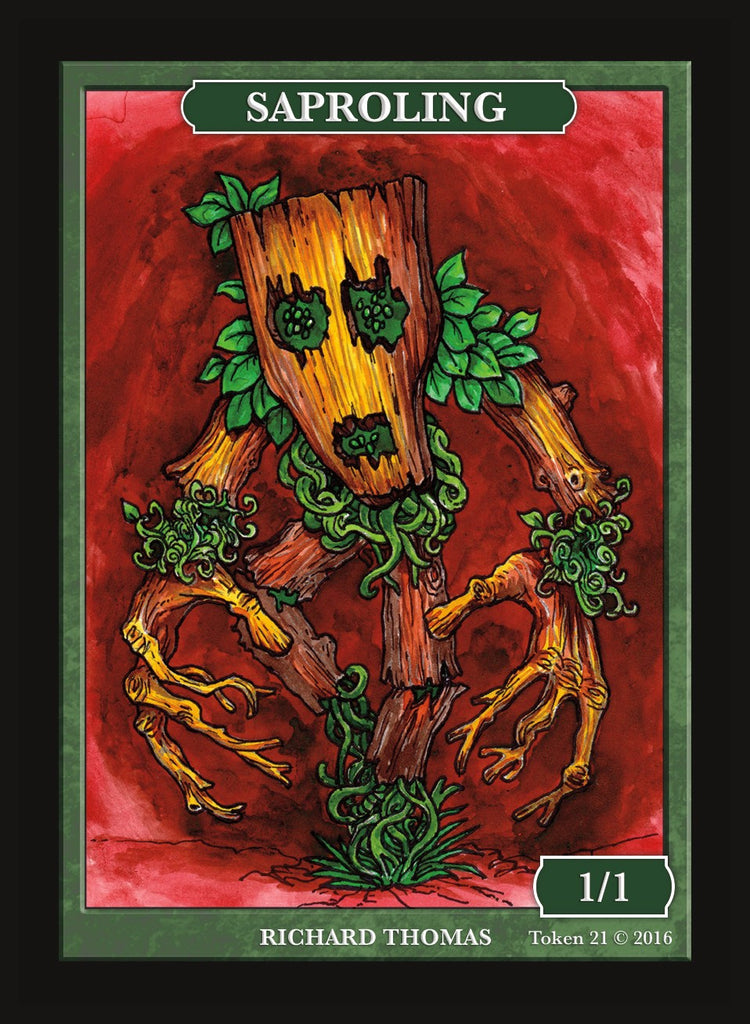 Limited Edition Saproling Token for MTG (by Richard Thomas)