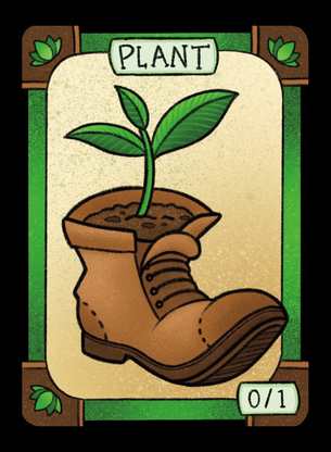 4x Plant Tokens for MTG (LAN)