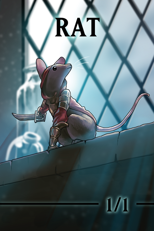 Rat 1/1 Token for MTG (ISH) Token A.Lundell - Cardamajigs