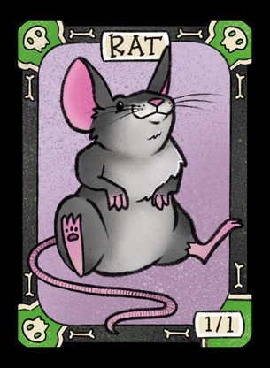 4x Rat Tokens for MTG (LAN)