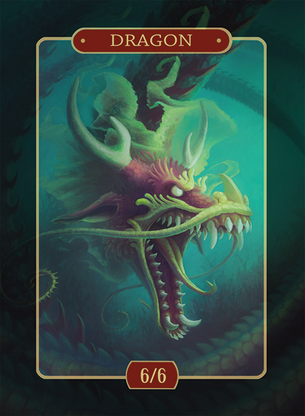 Dragon 6/6 Token for MTG (Alison Johnstun)