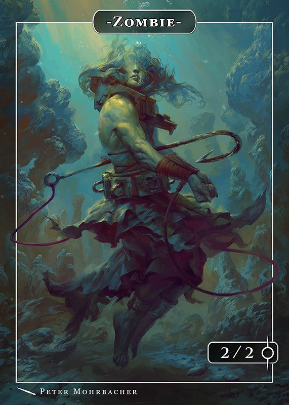 Zombie Rahab Token for MTG (Peter Mohrbacher) Token Angelarium 2 - Cardamajigs