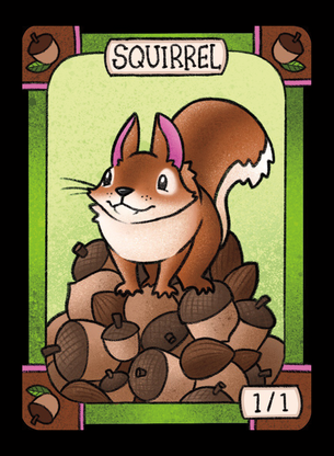 4x Squirrel Tokens for MTG (LAN)
