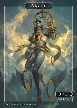 Angel Sahaqiel Token for MTG (Peter Mohrbacher)