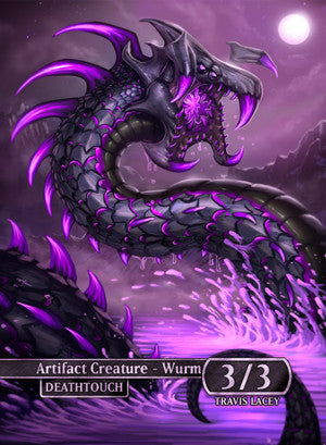 Deathtouch Wurm (Wurmcoil Engine) Token for MTG (RES) Token Ravens Eye Studios - Cardamajigs