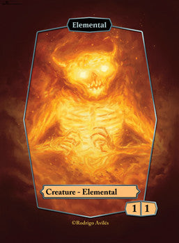 Elemental Red Token for MTG (ROD) Token Rodrigo Aviles - Cardamajigs