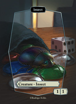 Insect Token for MTG (ROD) Token Rodrigo Aviles - Cardamajigs